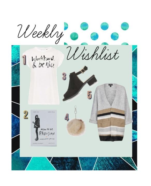 weekly wish list 1